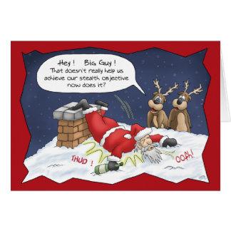 Cartes de Noël drôles : Objectif de discrétion