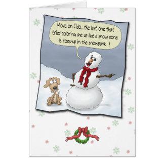 Cartes de Noël drôles : Orteils