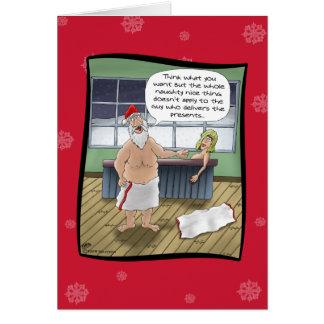 Cartes de Noël drôles : Règles vilaines et Nice