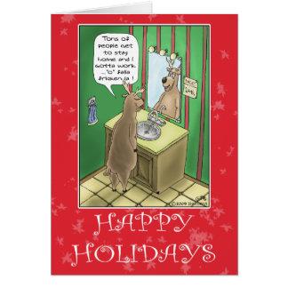 Cartes de Noël drôles : Réveillon de Noël