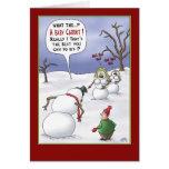Cartes de Noël drôles : Sujets de taille