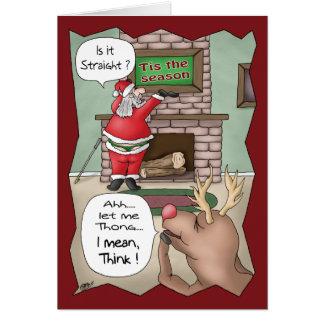 Cartes de Noël drôles : ` Tis la saison