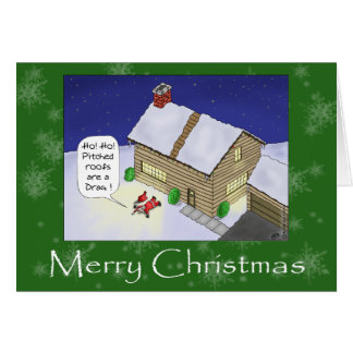 Cartes de Noël drôles : Toits lancés