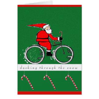 cartes de Noël faisantes du vélo