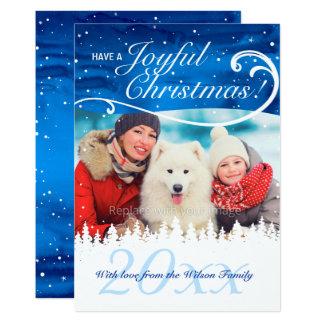 Cartes de Noël faites sur commande élégantes de