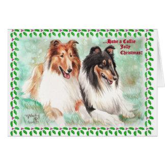 Cartes de Noël gaies de colley