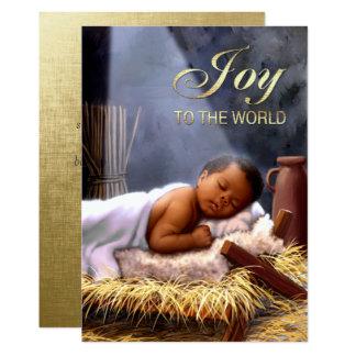 Cartes de Noël plates de Jésus de bébé