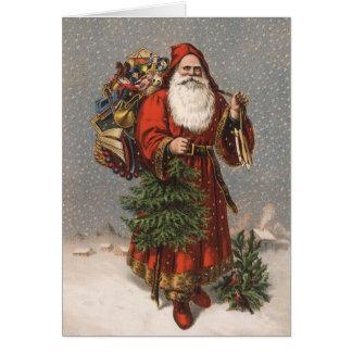 Cartes de Noël vintages de Père Noël d Allemand