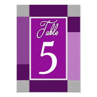 CARTES DE NOMBRE DE TABLE - (5,5 X 7,5) ABRÉGÉ SUR CARTON D'INVITATION  13,97 CM X 19,05 CM