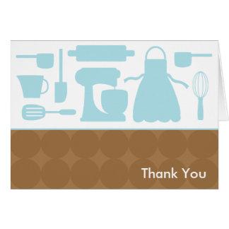 Cartes de note bleues de cuisine