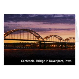 Cartes de note centennales de pont