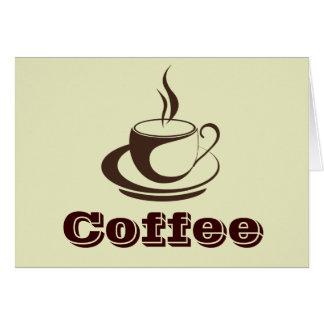 Cartes de note chaudes élégantes de café
