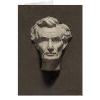 Cartes de note d'Abraham Lincoln (blanc à