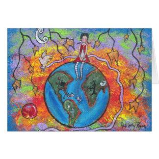 Cartes de note d'amour de la terre