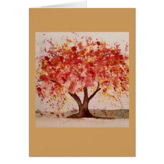 Cartes de note d'arbre d'automne