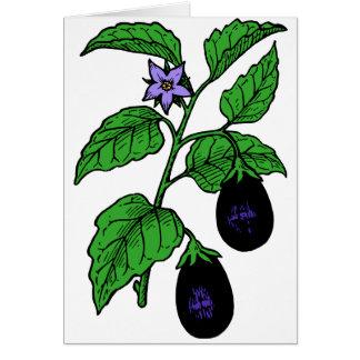 Cartes de note d'aubergine