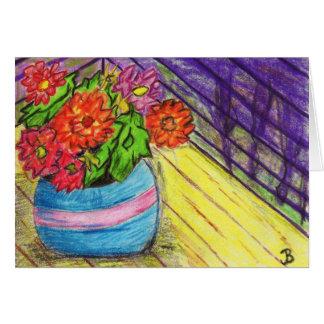 Cartes de note de fleurs