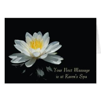 Cartes de note de flottement de fleur de Lotus
