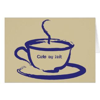 Cartes de note de Lait d'Au de café