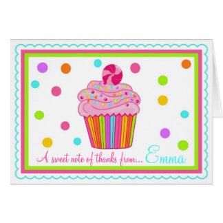Cartes de note de Merci de petit gâteau de Surpise