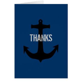 Cartes de note de message de Merci d'homme de bleu