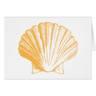 Cartes de note d'or de Merci de Shell de mer de