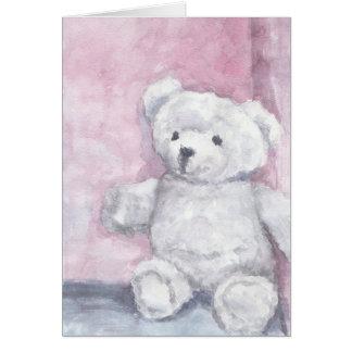 Cartes de note d'ours de nounours d'aquarelle,