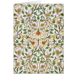 Cartes de note florales de motif de jonquille de W
