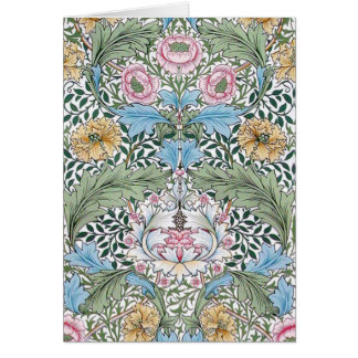 Cartes de note florales de motif de William Morris