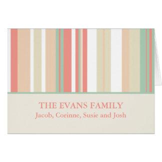 Cartes de note personnalisées de famille