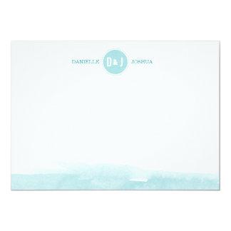 Cartes de note personnalisées par aquarelle faire-part personnalisé