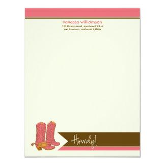 Cartes de note plates faites sur commande de carton d'invitation 10,79 cm x 13,97 cm