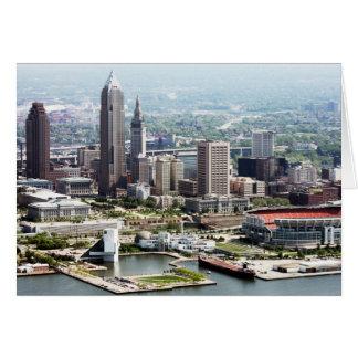 Cartes de note pliées par 5x7 de Cleveland