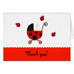 Cartes de note pliées par baby shower de Merci de