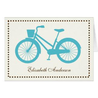 Cartes de note pliées par bicyclette d'Aqua