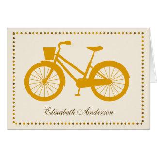 Cartes de note pliées par bicyclette orange