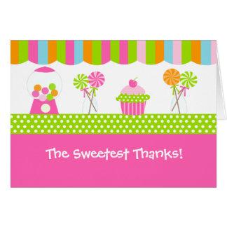 Cartes de note pliées par magasin doux de Merci