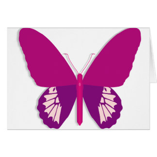 Cartes de note roses de papillon