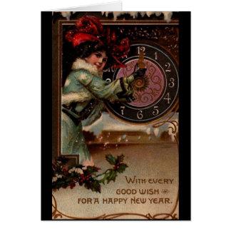 Cartes de note victoriennes vintages de Madame