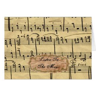 Cartes de note vintages de musique