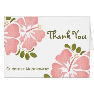 Cartes de notes roses de Merci de ketmie