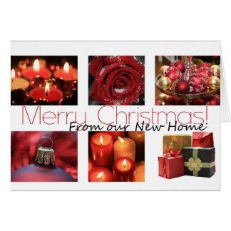 Cartes De notre nouvel Joyeux Noël à la maison