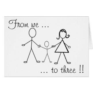 Cartes De nous à trois ! !