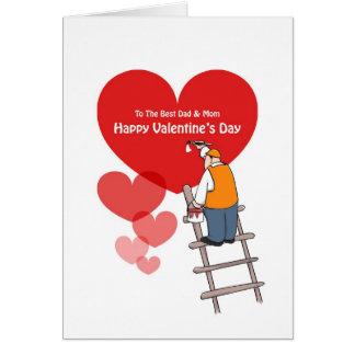 Cartes de papa et de maman de Saint-Valentin,