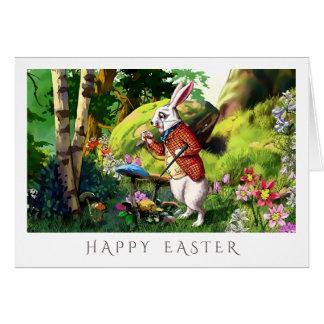 Cartes de Pâques blanches au pays des merveilles
