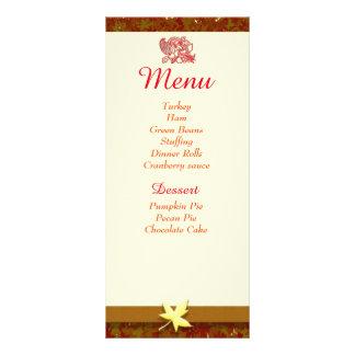 Cartes de personne de menu de thanksgiving