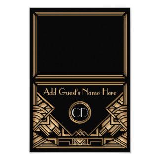 Cartes de place d'escorte de mariage de style de carton d'invitation 8,89 cm x 12,70 cm
