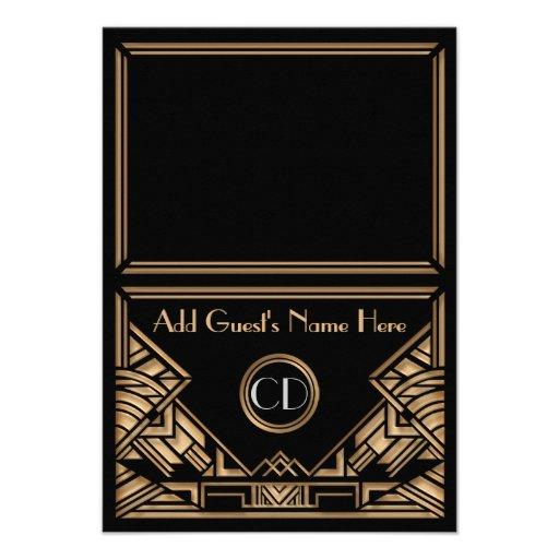 Cartes de place d'escorte de mariage de style de G Cartons D'invitation Personnalisés