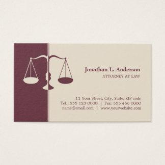 Cartes de professionnel de Bourgogne d'avocat de