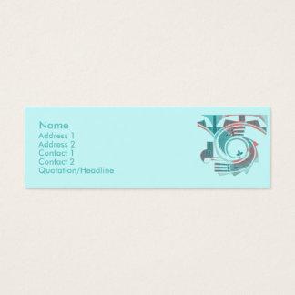 Cartes de profil d'aube de turquoise